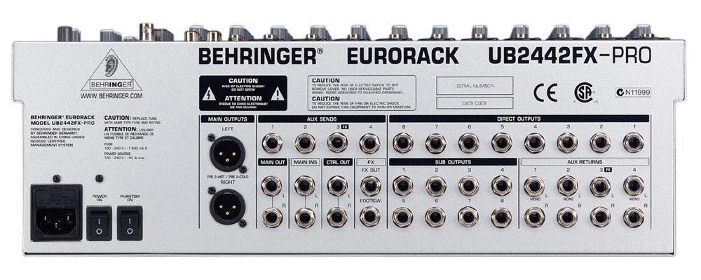 behringer eurorack ub2442fx-pro manual download