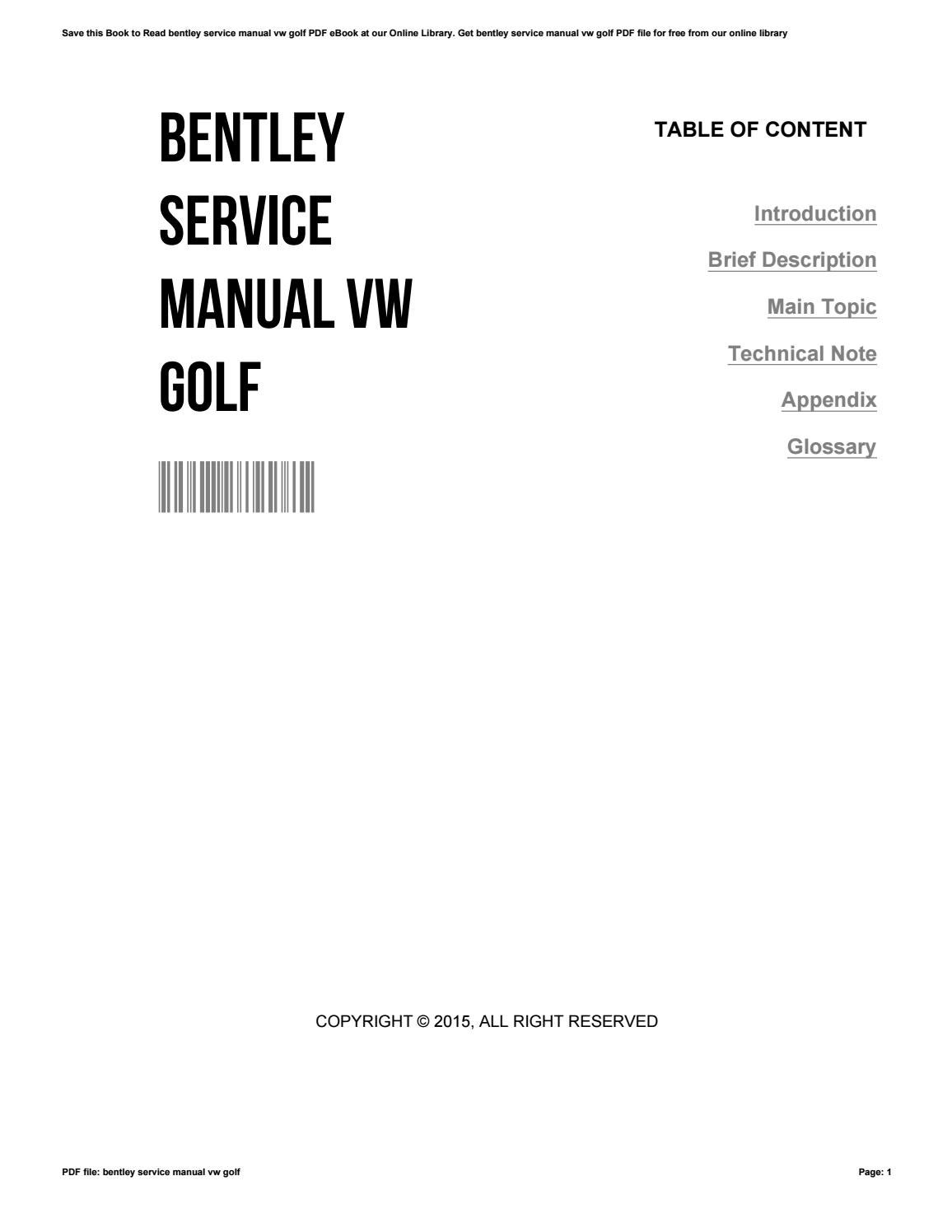 bentley service manual free download
