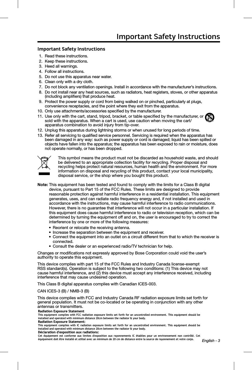 bose model 418775 instruction manual