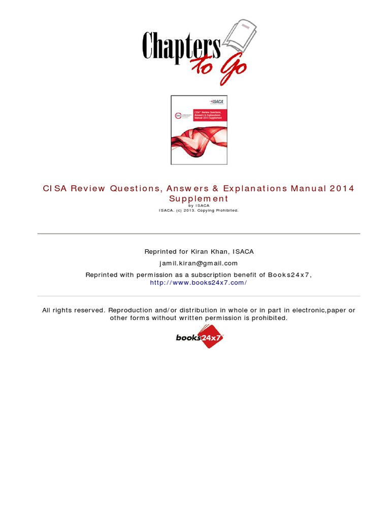 cisa review questions answers & explanations manual 2014 pdf