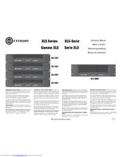crown xls 1502 manual pdf