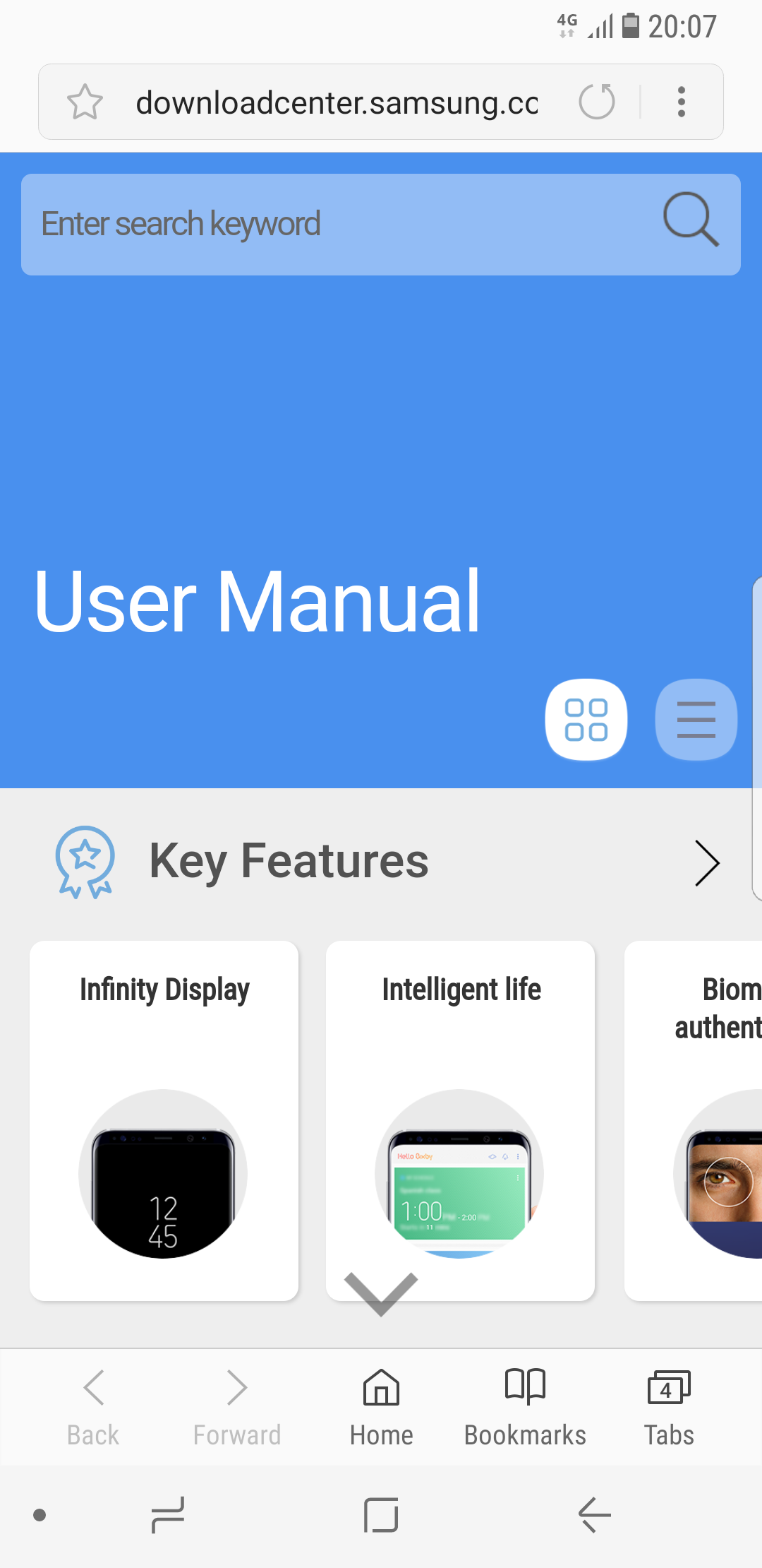 samsung user manual not available in english