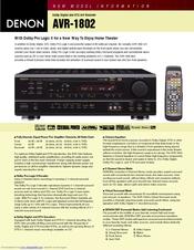 denon avr 1802 manual pdf