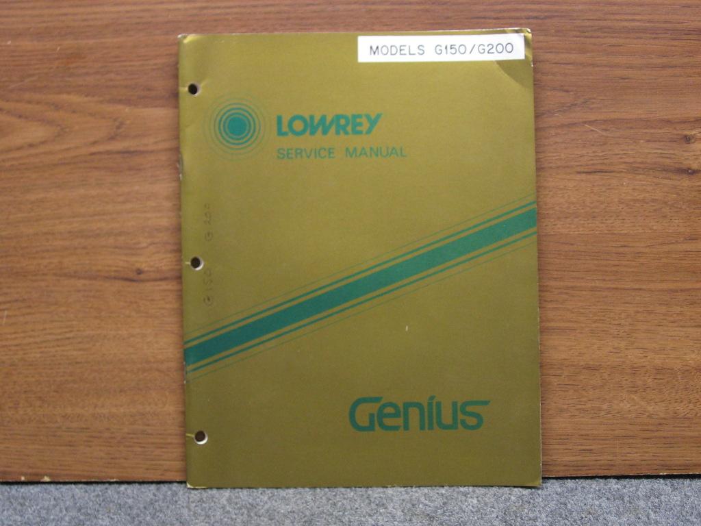 download owners manual lowrey genie tg44