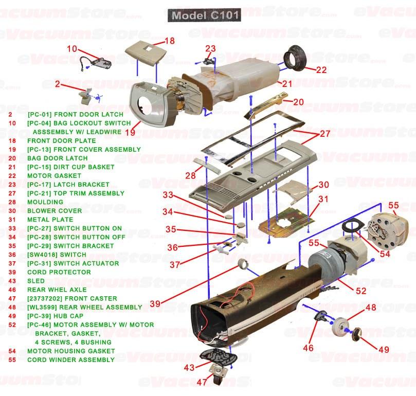electrolux ambassador model c101j manual