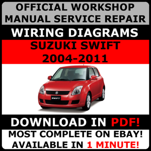 2008 suzuki swift workshop manual free download