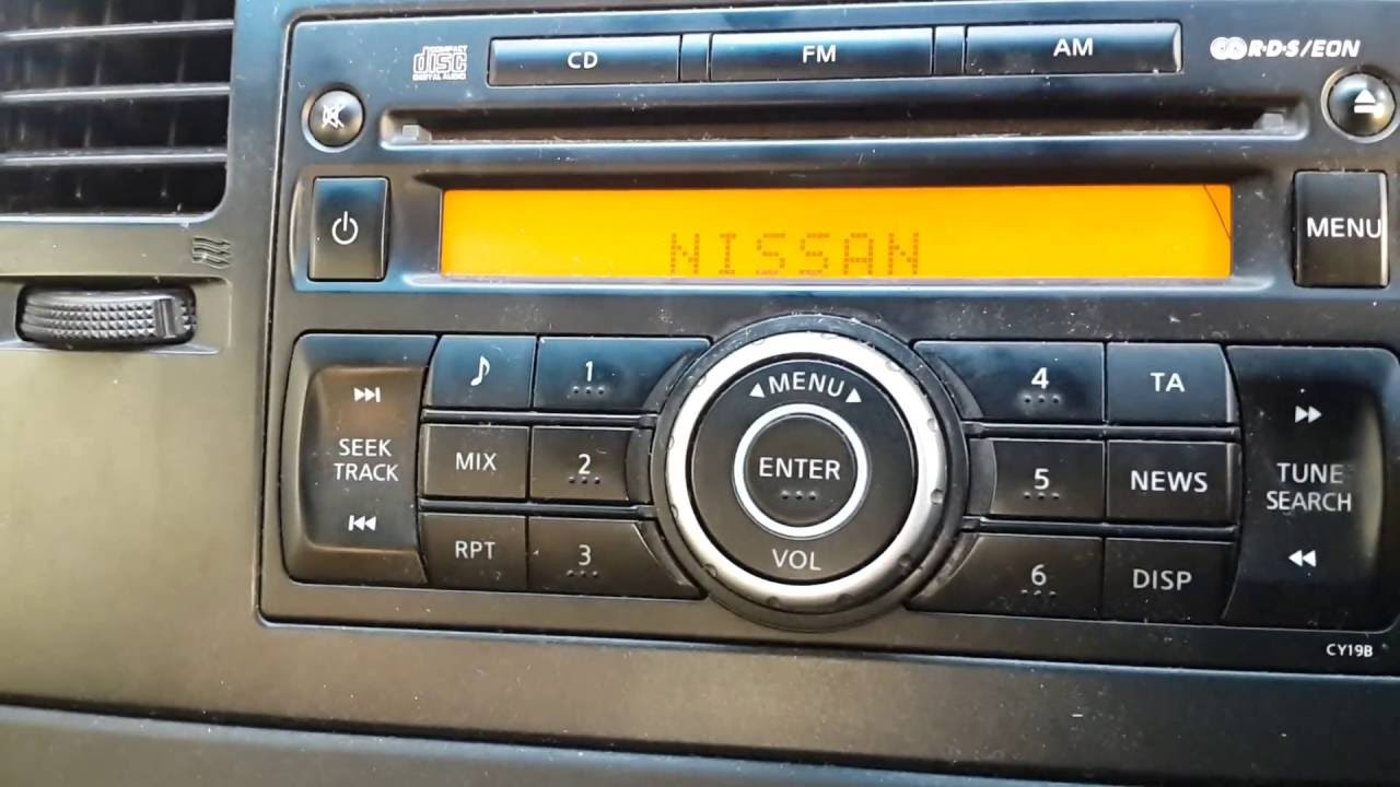 nissan versa 2008 radio model pn2813l manual