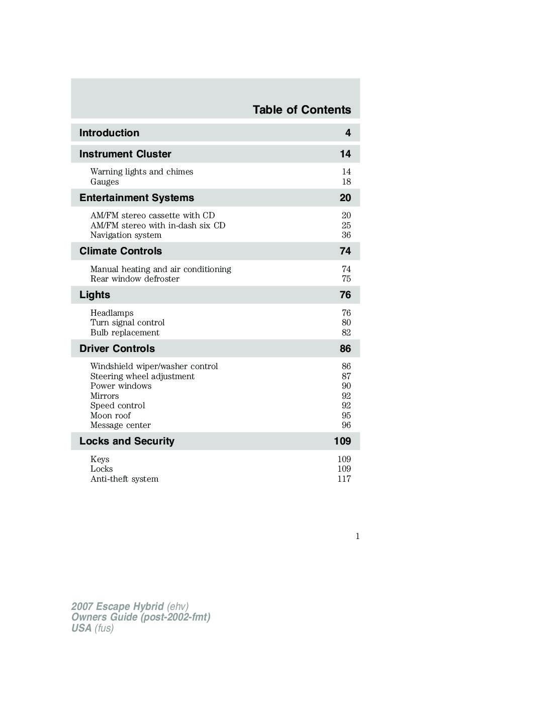 ford escape 2011 manual pdf