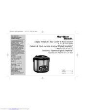 hamilton beach model 37536 manual