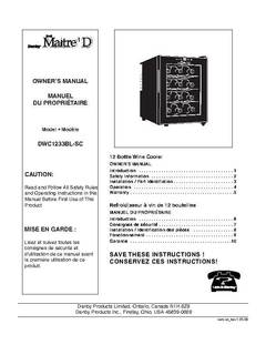 manual for a thermoelectric wine cooler model number lfwc08t5lb
