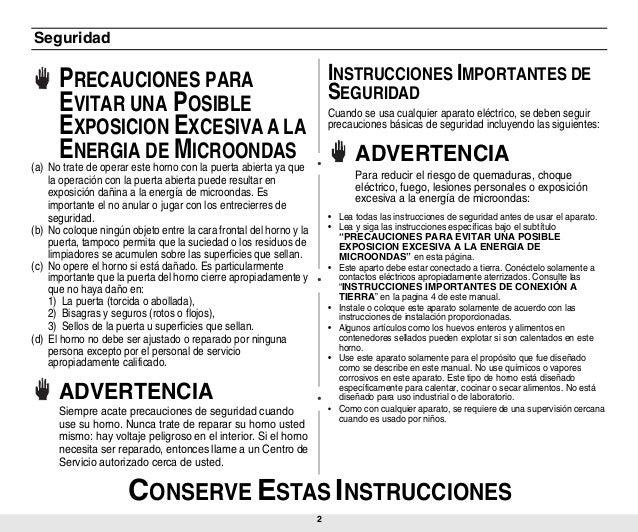 manual instrucciones microondas samsung ge731k