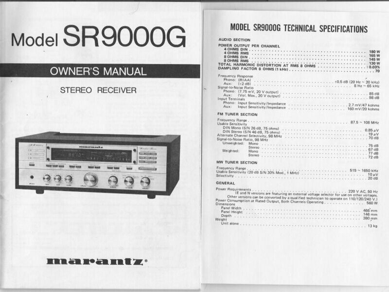 marantz model 19 service manual