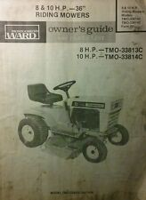 owners manual for montgomery ward riding mower model 289707