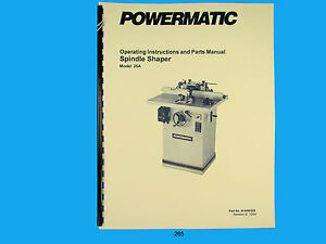 powermatic model 26 shaper manual