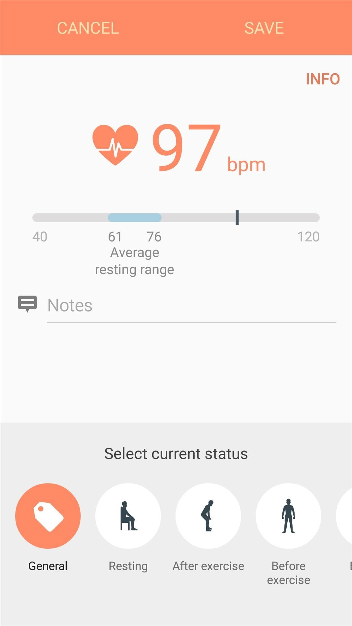 samsung health manually enter exercise data