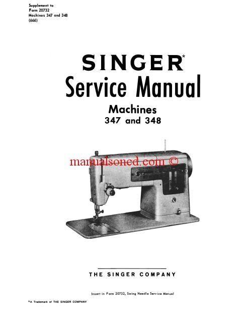 singer sewing machine model 347 manual