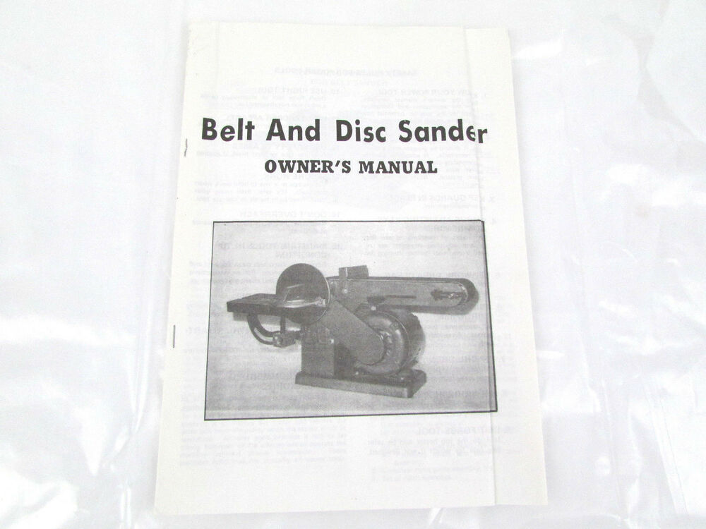 skil home shop belt sander model 525 manual