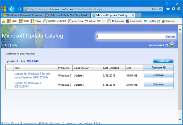 windows server 2016 update pack manual download