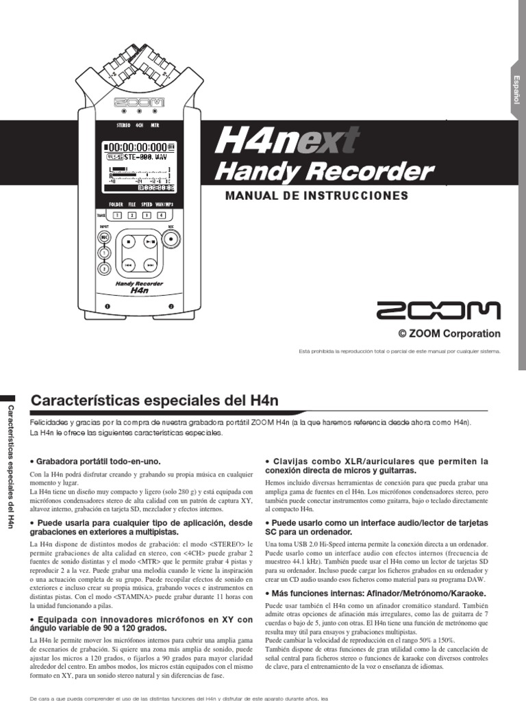 zoom h4n manual pdf download